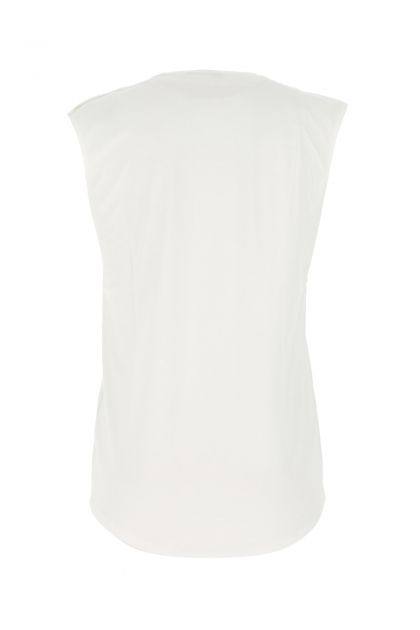 White cotton tank top