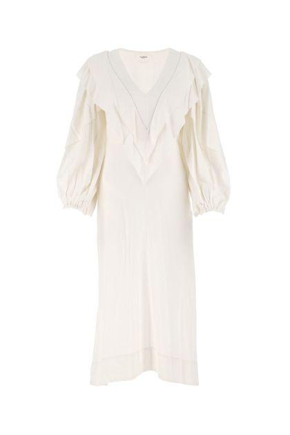 Melange ivory viscose blend Hyde dress