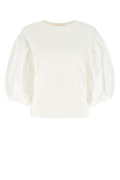 White cotton oversize top