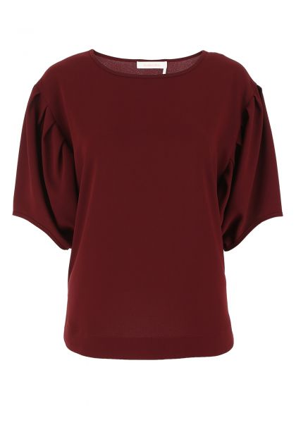Tiziano red polyester oversize top