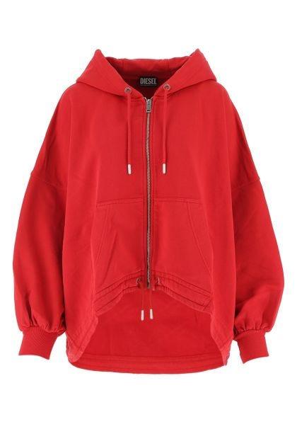 Red cotton Bali oversize sweatshirt