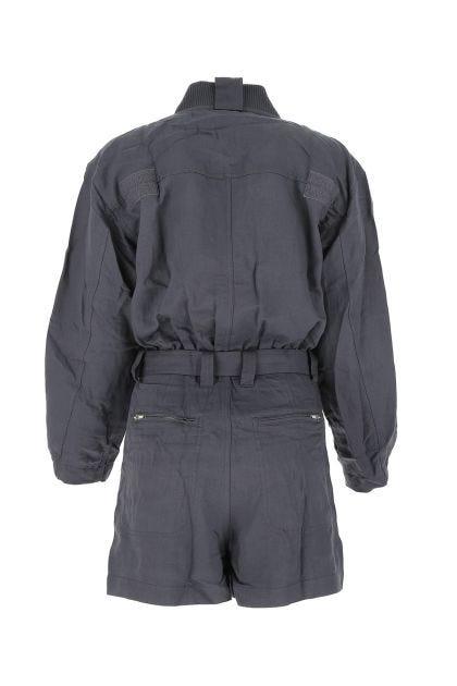 Graphite linen blend Astrid jumpsuit