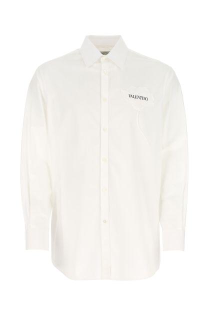 White popeline oversize shirt