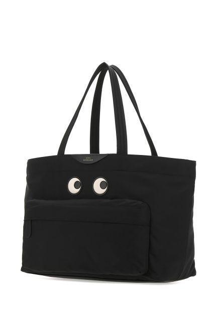 Black nylon shoulder bag