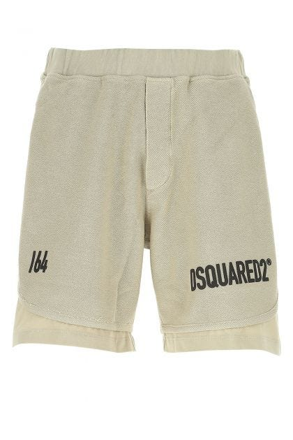 Dove grey 64 Layer bermuda shorts