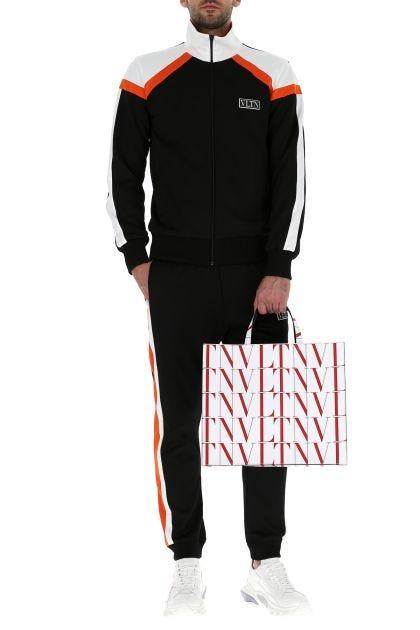 Black polyester blend joggers