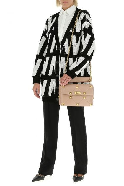 Embroidered cotton oversize cardigan