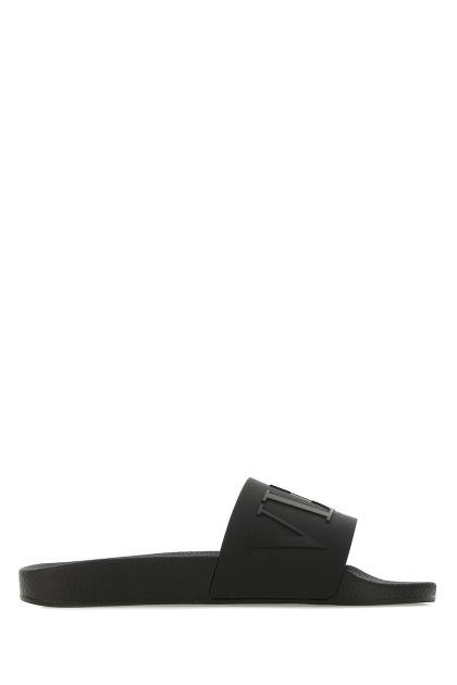 Black rubber slippers