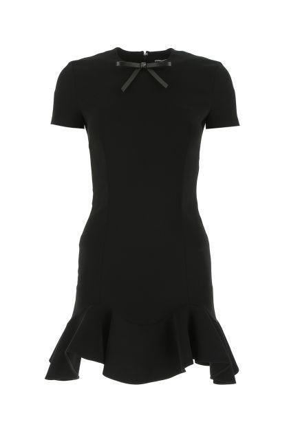 Black stretch viscose mini dress