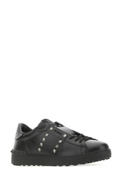 Black leather Rockstud Untitled sneakers