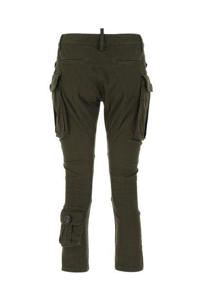 Army green denim cargo pant