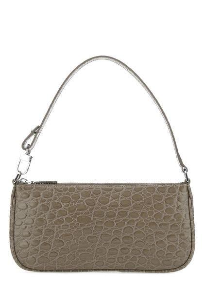 Dove grey leather Rachel handbag