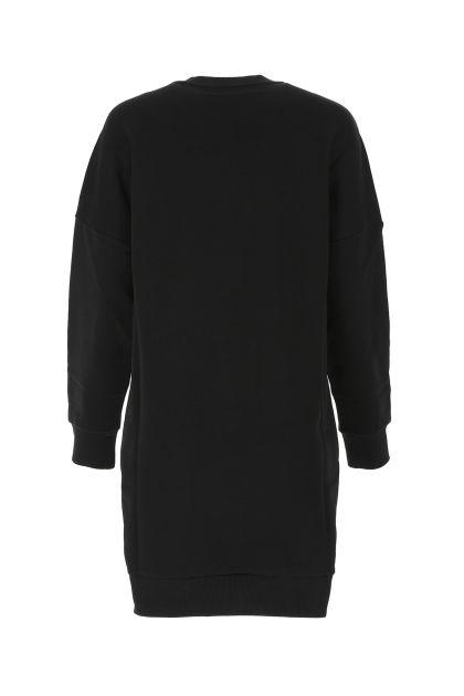 Black cotton sweatshirt dress