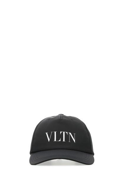 Black cotton VLTN baseball cap