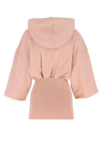 Antiqued pink cotton Belty sweatshirt
