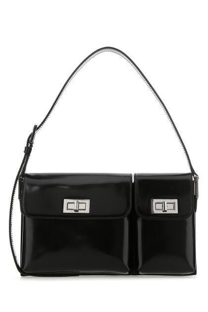 Black leather Billy shoulder bag