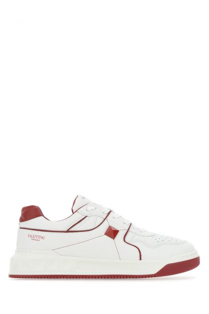 Two-tone nappa leather One Stud sneakers