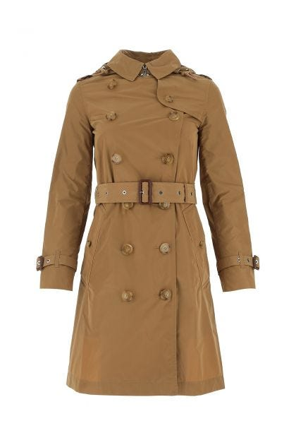 Camel polyester trench