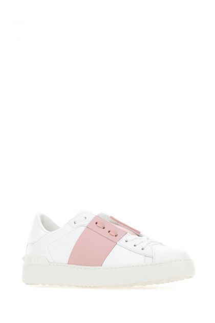 White leather Open sneakers
