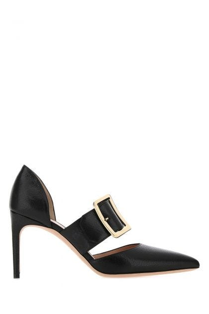 Black leather Jessye pumps
