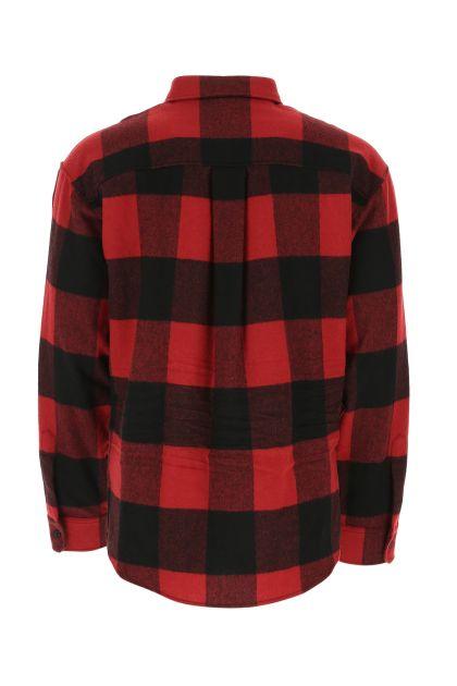 Printed wool blend shirt
