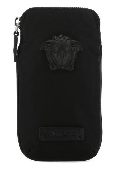 Black nylon phone case