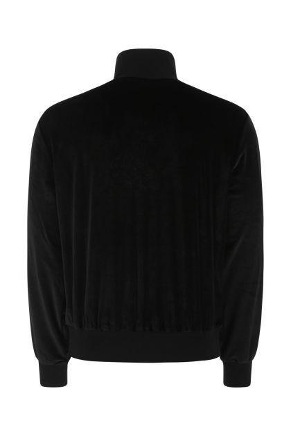 Black cinille sweatshirt