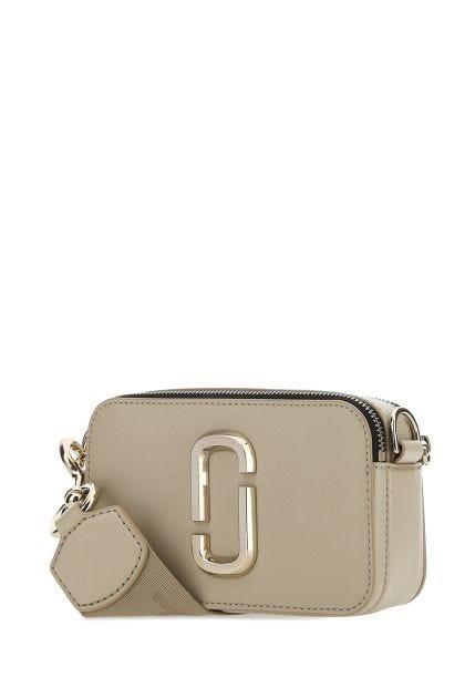 Cappuccino leather Logo Strap Snapshot crossbody bag