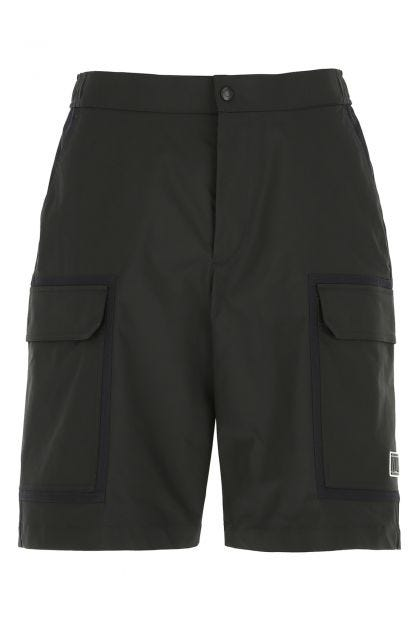 Two-tone cotton and polyester bermuda shorts