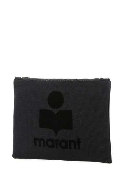 Black fabric pouch