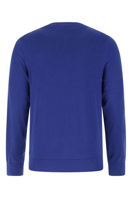 Electric blue cotton sweater
