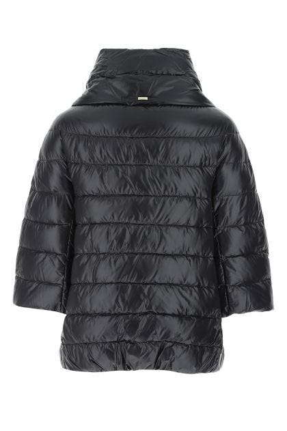 Black nylon Aminta padded jacket