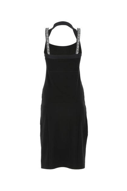 Black stretch cotton Sammy dress