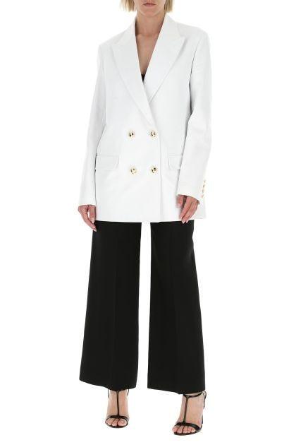 White gabardine blazer