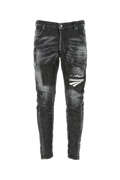 Grey stretch denim Tidy Biker jeans