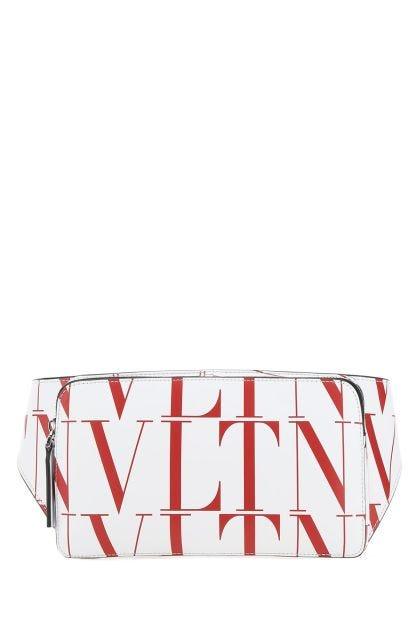 Printed leather VLTN belt bag