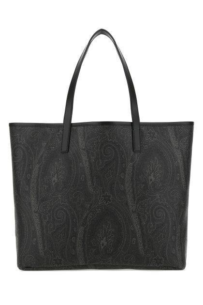 Printed canvas Paisley shopping bag