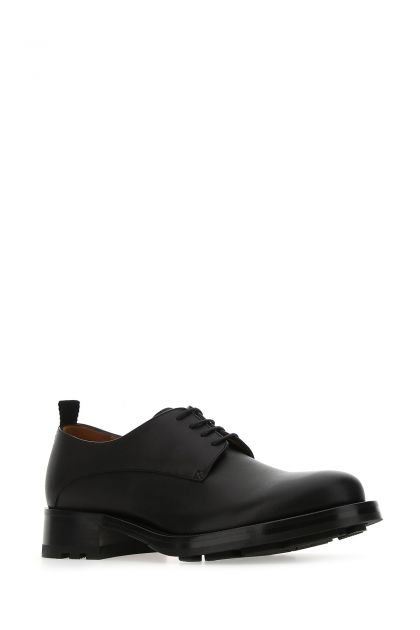 Black leather Derby Roman Stud lace-up shoes