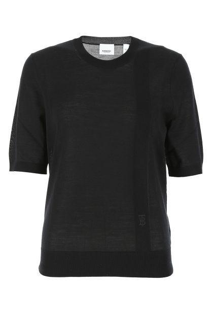 Black wool blend top