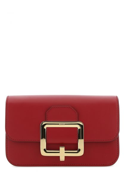 Red leather Janelle crossbody bag