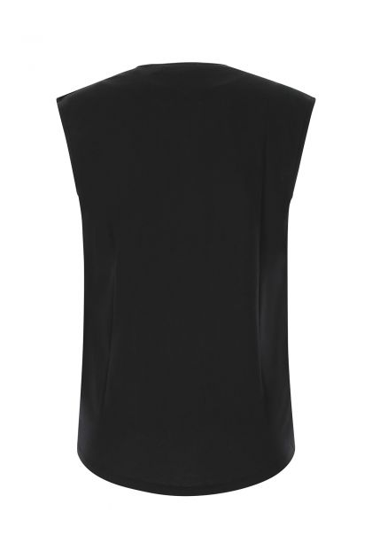 Black cotton tank top