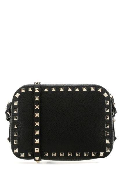 Black leather Rockstud small crossbody bag