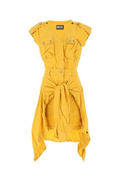 Mustard lyocell dress