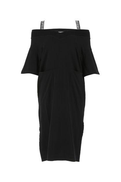 Black oversize cotton Worky dress