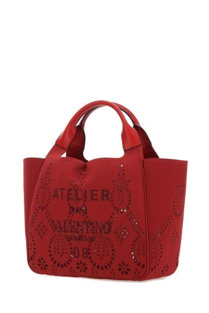 Red canvas smal Atelier Bag 07 handbag
