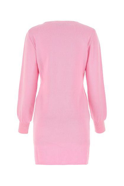 Pink wool sweater dress
