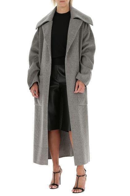 Embroidered wool blend Soa coat