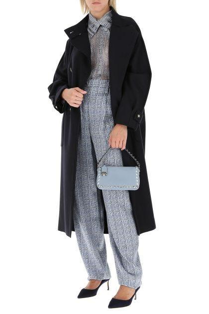 Midnight wool blend oversize coat