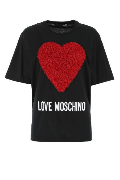 T-shirt oversize in cotone nero