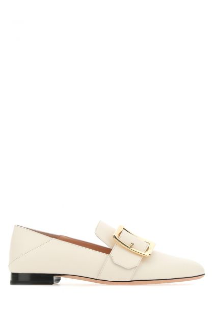 Ivory leather Janelle loafers